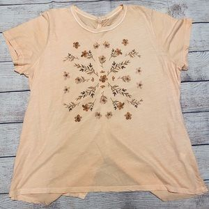 Lucky Brand Stamp Flowers Tee
